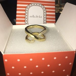 Stella & Dot Adeva Wrap Ring - size 6